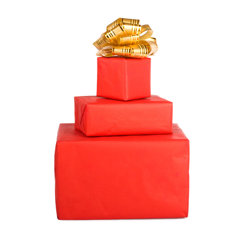 Holiday Customer Service   Red Gift Boxes