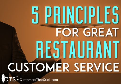 5 Principles for Great Restaurant Customer Service | Picture of Waiter Arm and Tray