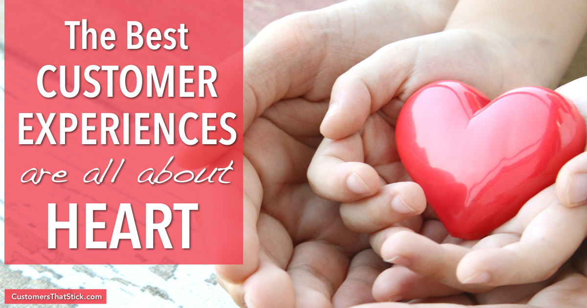 The Best Customer Experiences Are All About Heart with Phil Gerbyshak | Picture of hands holding plastic heart